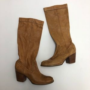 Frye Rory Scrunch Leather Boots Size 7M